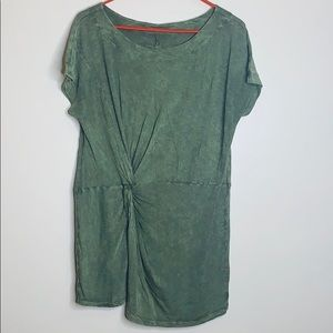 Anthropologie | Moss Green Scoop Front Twist Shirt
